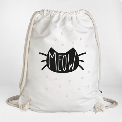 """Katzensack """"Meow"""" von Visual Statements Weiß"""