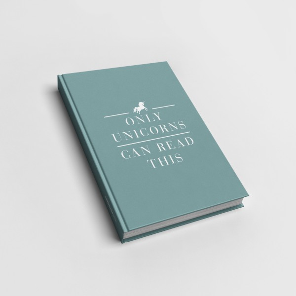 Only unicorns can read this - Notizbuch