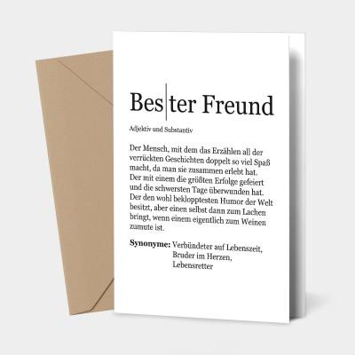 Bester Freund - Grußkarte