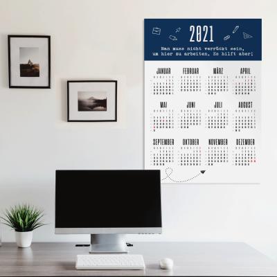 Wandkalender 2021 - Kalender fürs Büro im A1 Format