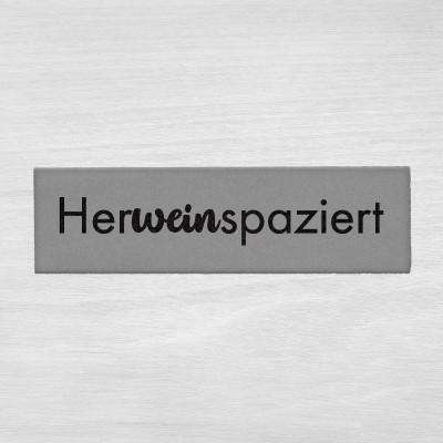 Herweinspaziert - Fußmatte