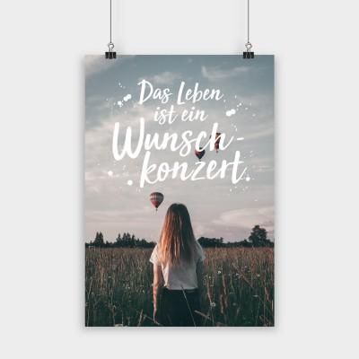 """Visualstatements Poster """"Das Leben ist ein Wunschkonzert"""""""