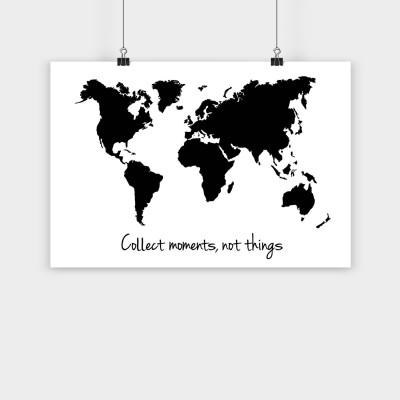 Weltkarte - Poster