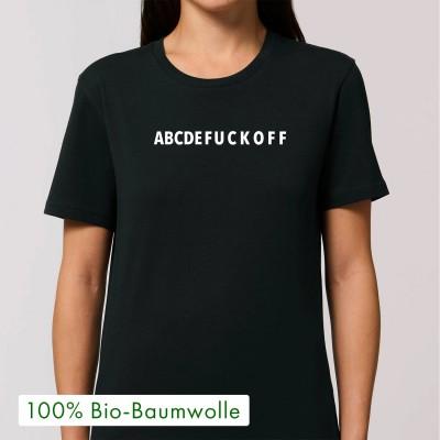 ABCDEF - schwarzes Unisex T-Shirt von wrdprn - Visual Statements Shop
