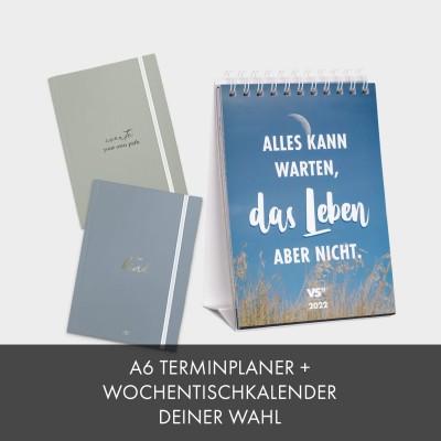 Kalender-Set: Wochentischkalender & Terminplaner A6
