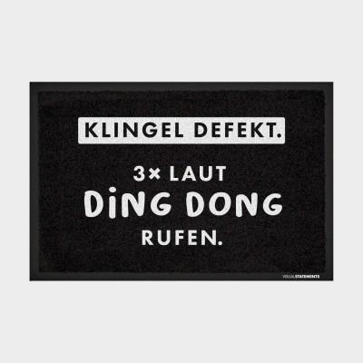 """Klingel defekt. 3x laut ding dong rufen - Fußmatte von VS"""""""