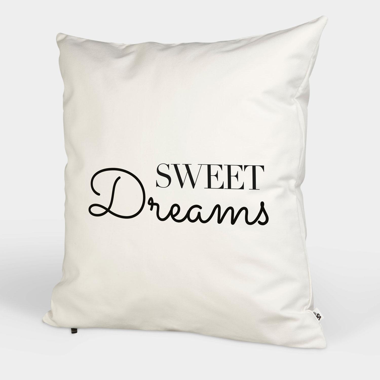 sweet dreams kissenbezug kissen wohnen visual statements. Black Bedroom Furniture Sets. Home Design Ideas