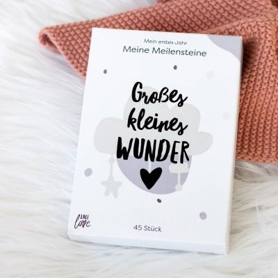 Meilensteinkarten Baby - lalelove - 45 Meilensteinkarten - Geschenk zur Geburt