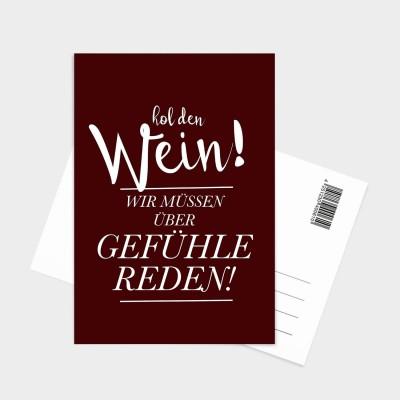 Hol den Wein - Postkarte