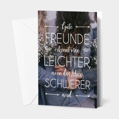 """Gute Freunde - Grußkarte von VS"""""""