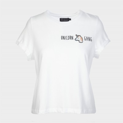 Einhorn T-Shirt weiß - Unicorn Gang