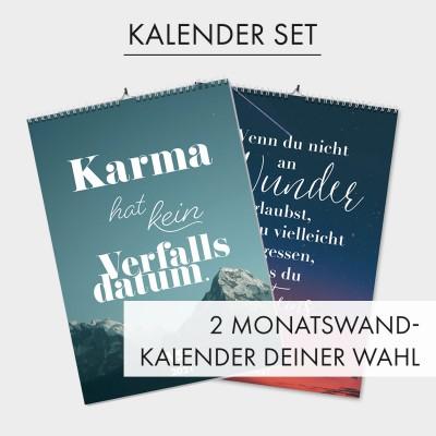 """Kalender-Set von VS"""" - 2 Monatswandkalender deiner Wahl"""