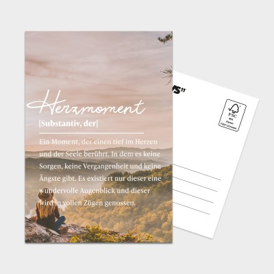 Definition Herzmoment - Postkarte