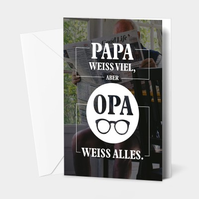 """Opa weiss alles - Grußkarte von VS"""""""