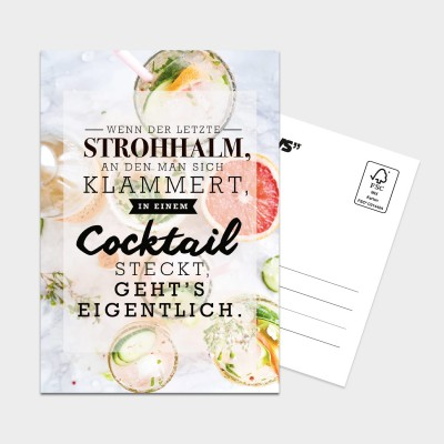 Cocktail - Postkarte