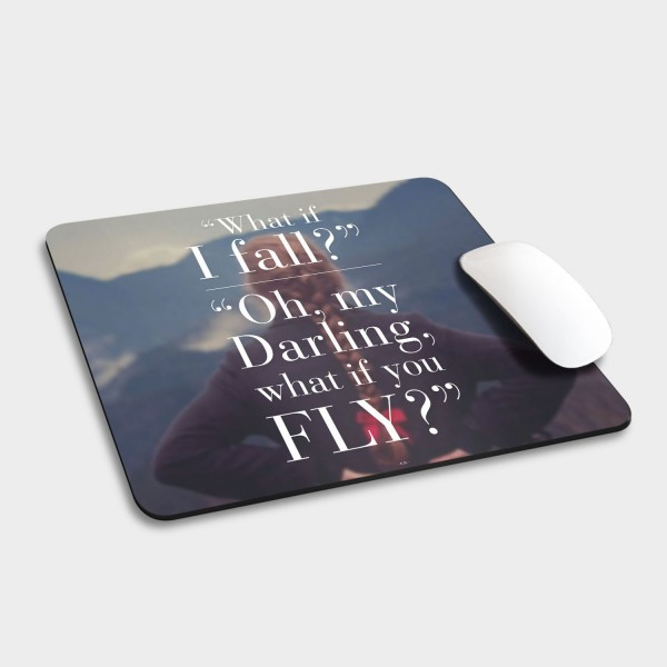What if I fall - Mousepad