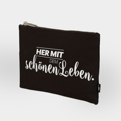 Schönes Leben - Zip Bag schwarz