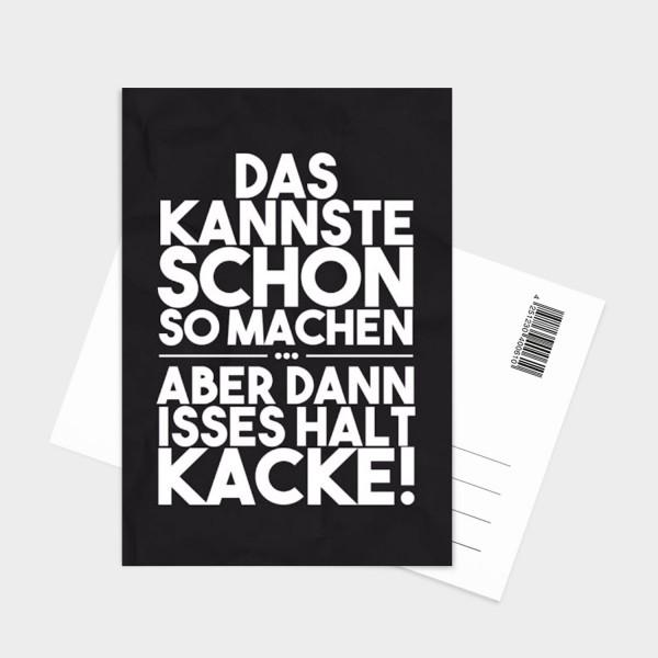 Kacke - Postkarte