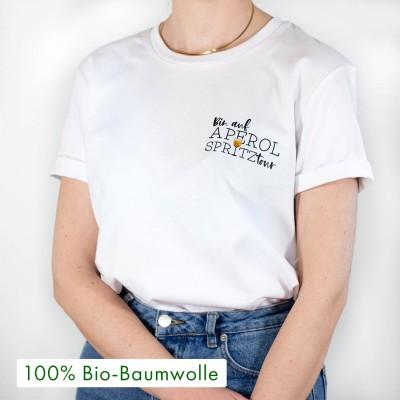 """Ich bin auf Aperol Spritztour - weißes oversized T-Shirt mit Spruch von VS"""""""
