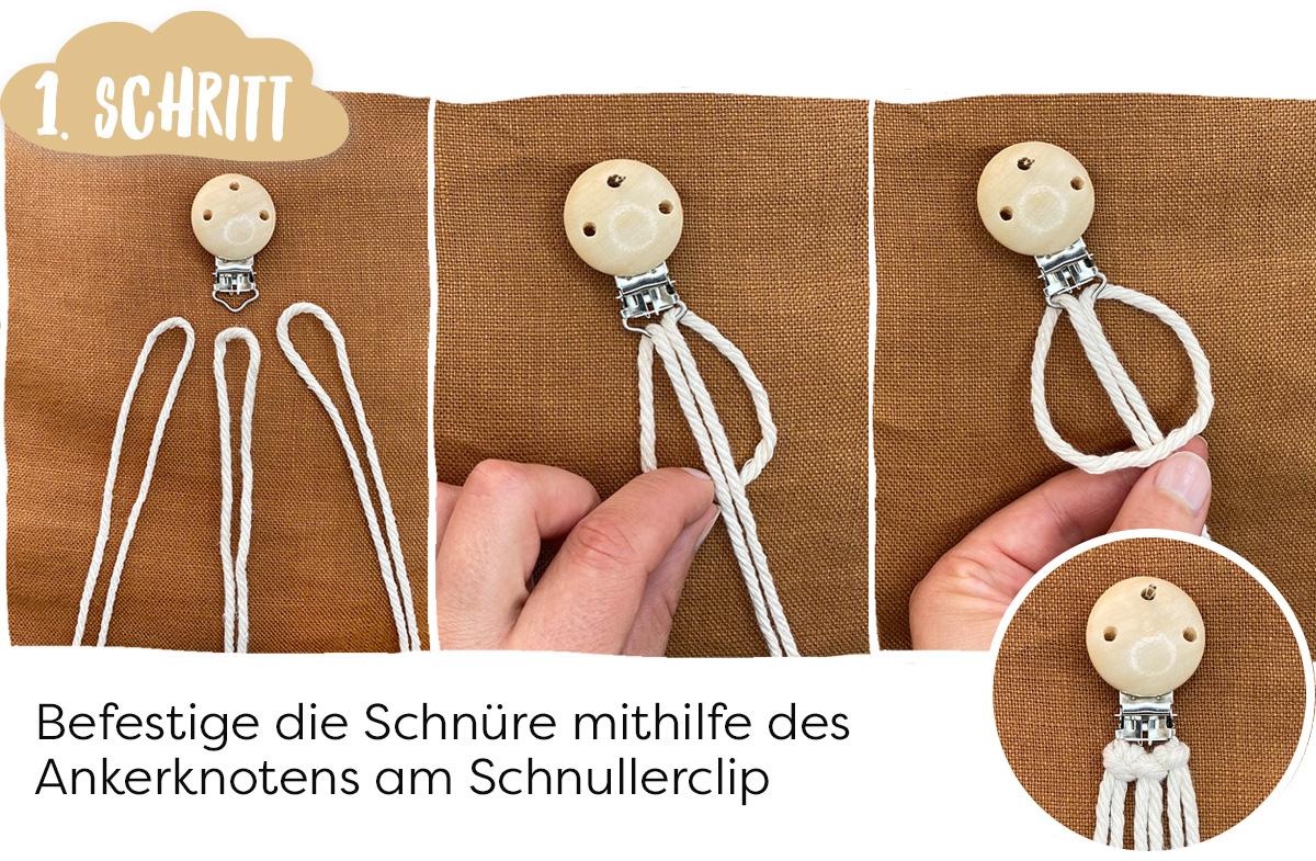 Ankerknoten DIY Schnullerkette