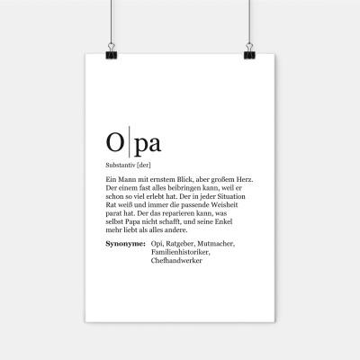"""Opa Poster - Opa Definition - Poster von VS"""" mit der Definition von Opa"""