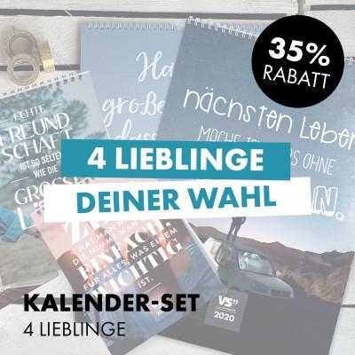 Kalender-Set: 4 Lieblinge