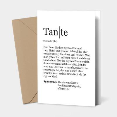 Grußkarte Tante - Definition Tante