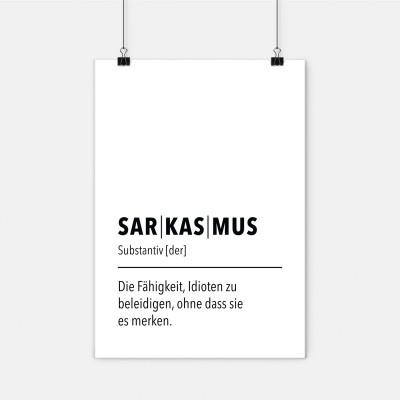 Sarkasmus - Poster wrdprn