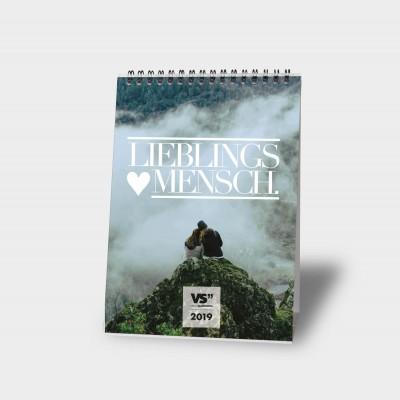 Lieblingsmensch 2019 A5 - Monatstischkalender
