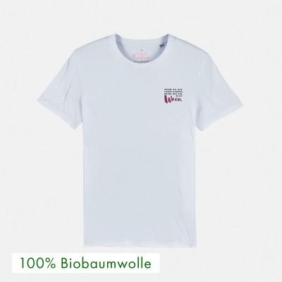 Wenn du das lesen kannst, bring mir ein Glas Wein - Bioshirt von Vollzeitprinzessin aus 100% Biobaumwolle
