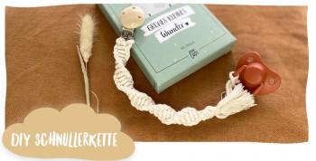 DIY Makramee Schnullerkette - das perfekte Geschenk zur Geburt