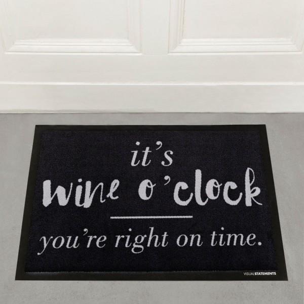 It's wine o'clock - Fußmatte