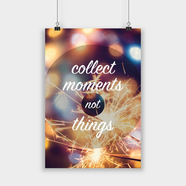 collect moments poster poster schreibwaren visual. Black Bedroom Furniture Sets. Home Design Ideas