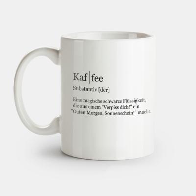 """Tasse VS"""" mit der Definition von Kaffee"""