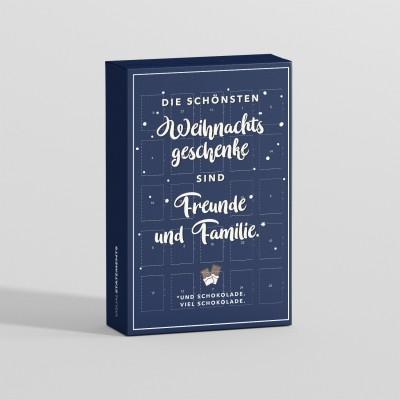 """VS"""" Adventskalender - Die schönsten Weihnachtsgeschenke sind Freunde und Familie. Und Schokolade. Viel Schokolade."""