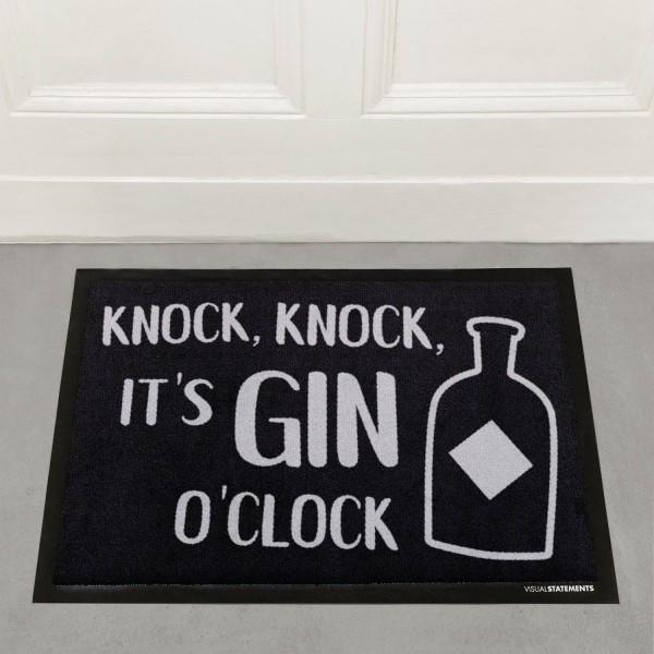 Knock knock it's gin o'clock - Fußmatte