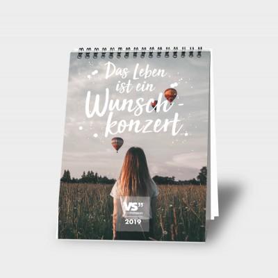 Das Leben ist ein Wunschkonzert A5 - Wochentischkalender 2019