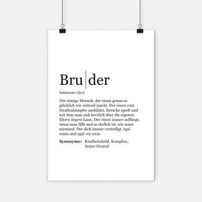 Dudeneintrag Bruder - Definition Bruder - Poster Bruder