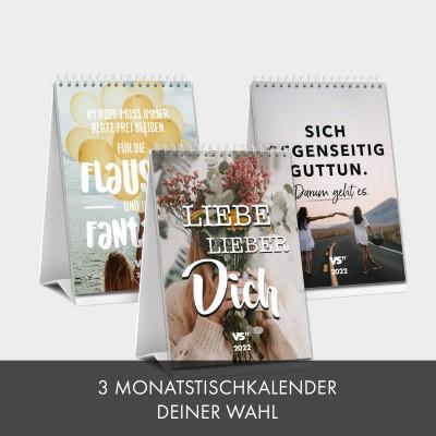Kalender-Set: 3 Monatstischkalender