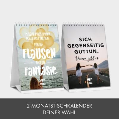 Kalender-Set: 2 Monatstischkalender