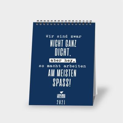 Wochentischkalender von Lieblingskollegen