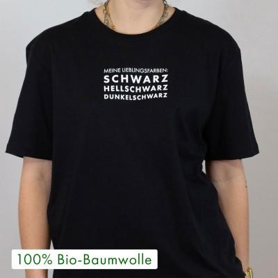 """Meine Lieblingsfarben: schwarz - schwarzes Unisex T-Shirt von VS"""""""
