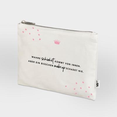 Zip Bag Vollzeitprinzessin - Wahre Schönheit kommt von innen. Aber ein bisschen Make Up schadet nie.
