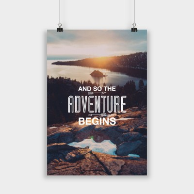 And so the adventure begins - Poster
