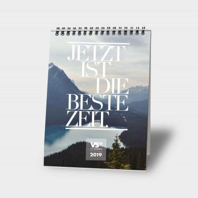 Jetzt ist die Zeit   A5 - Monatstischkalender 2019