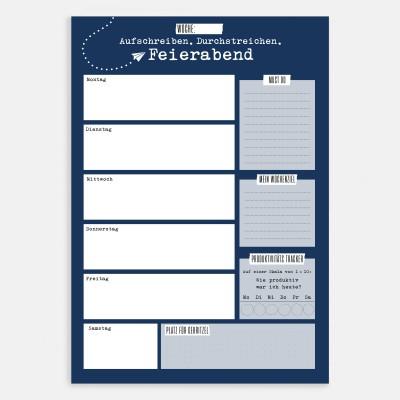 Aufschreiben. Durchstreichen. Feierabend - Notizblock von Lieblingskollegen