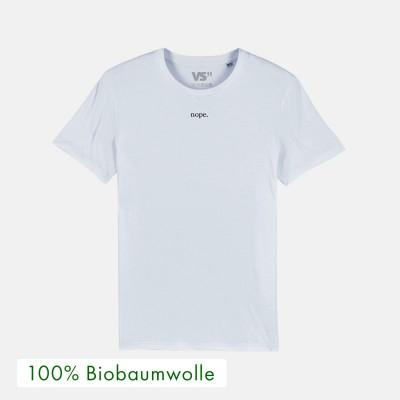 """Nope - Bio T-Shirt von VS""""  aus 100% Biobaumwolle - Spruch: nope"""