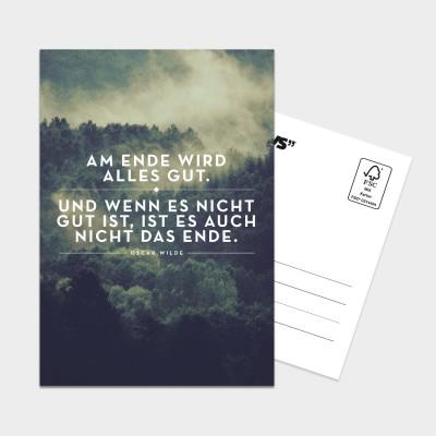 Am Ende alles gut - Postkarte