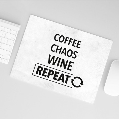 Mousepad Wordporn - Coffee, Chaos, Wine, Repeat