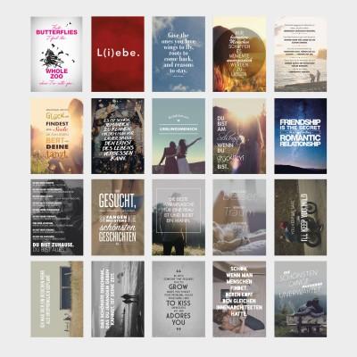 20er Postkarten-Set - Liebe